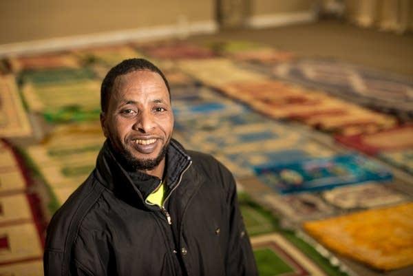 Mohamed Yusuf in the prayer room