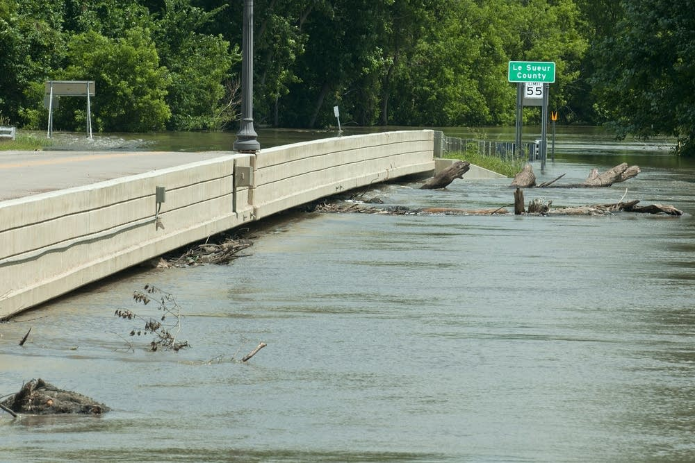 The Highway 19 bridge into Henderson is closed.