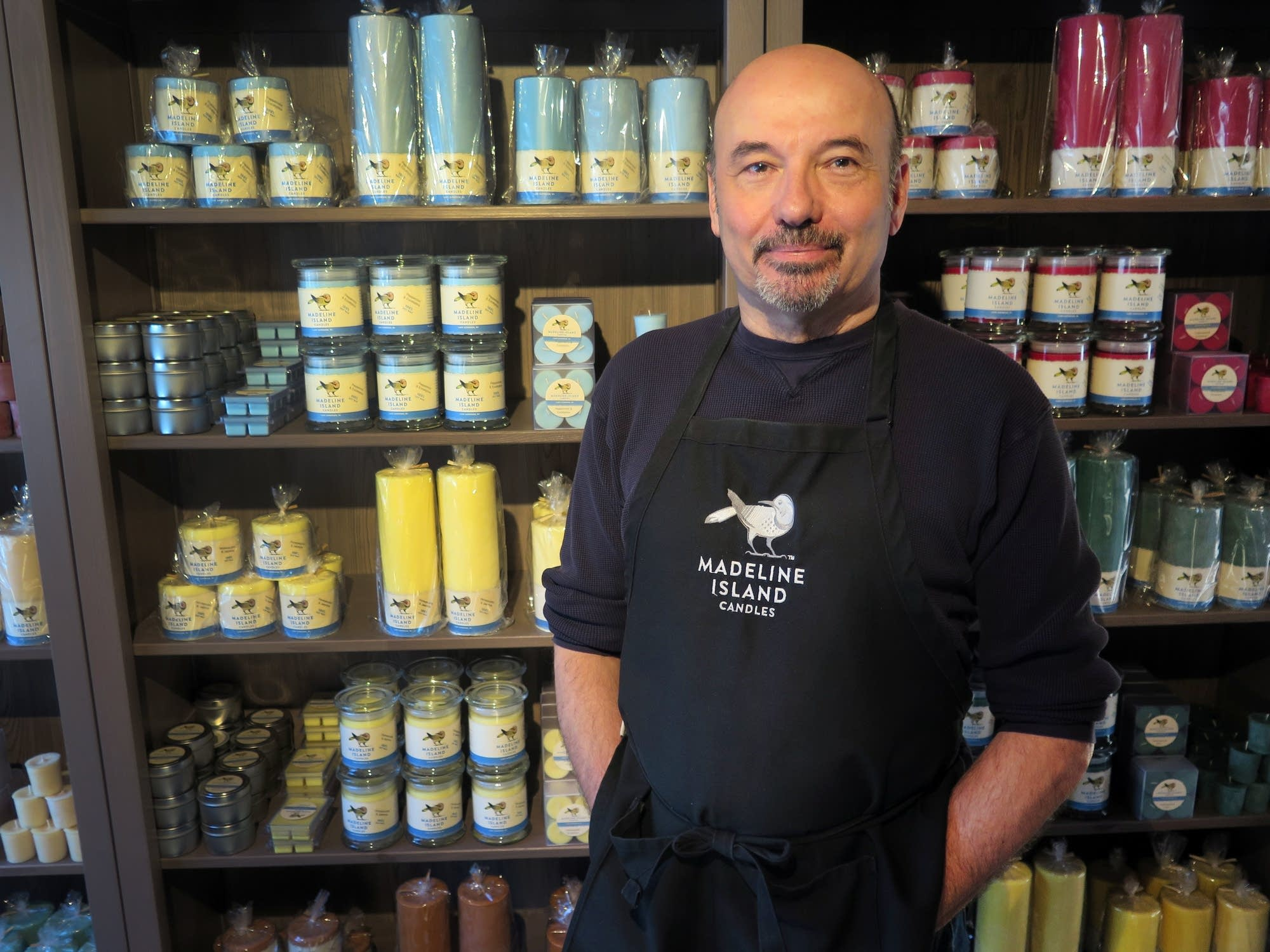Michael Childers, co-owner of Madeline Island Candles