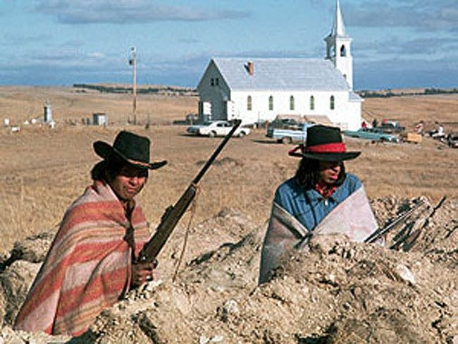 A scene from 'Wounded Knee'