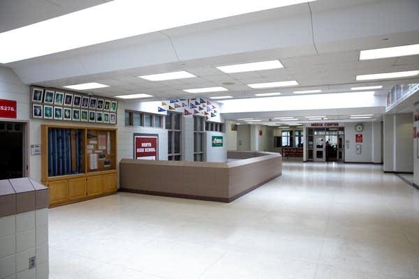 An empty high school.