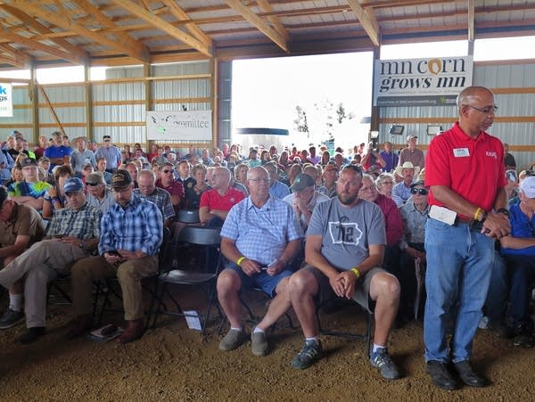 Farmers are waiting to hear from members of Congress at Farmfest.