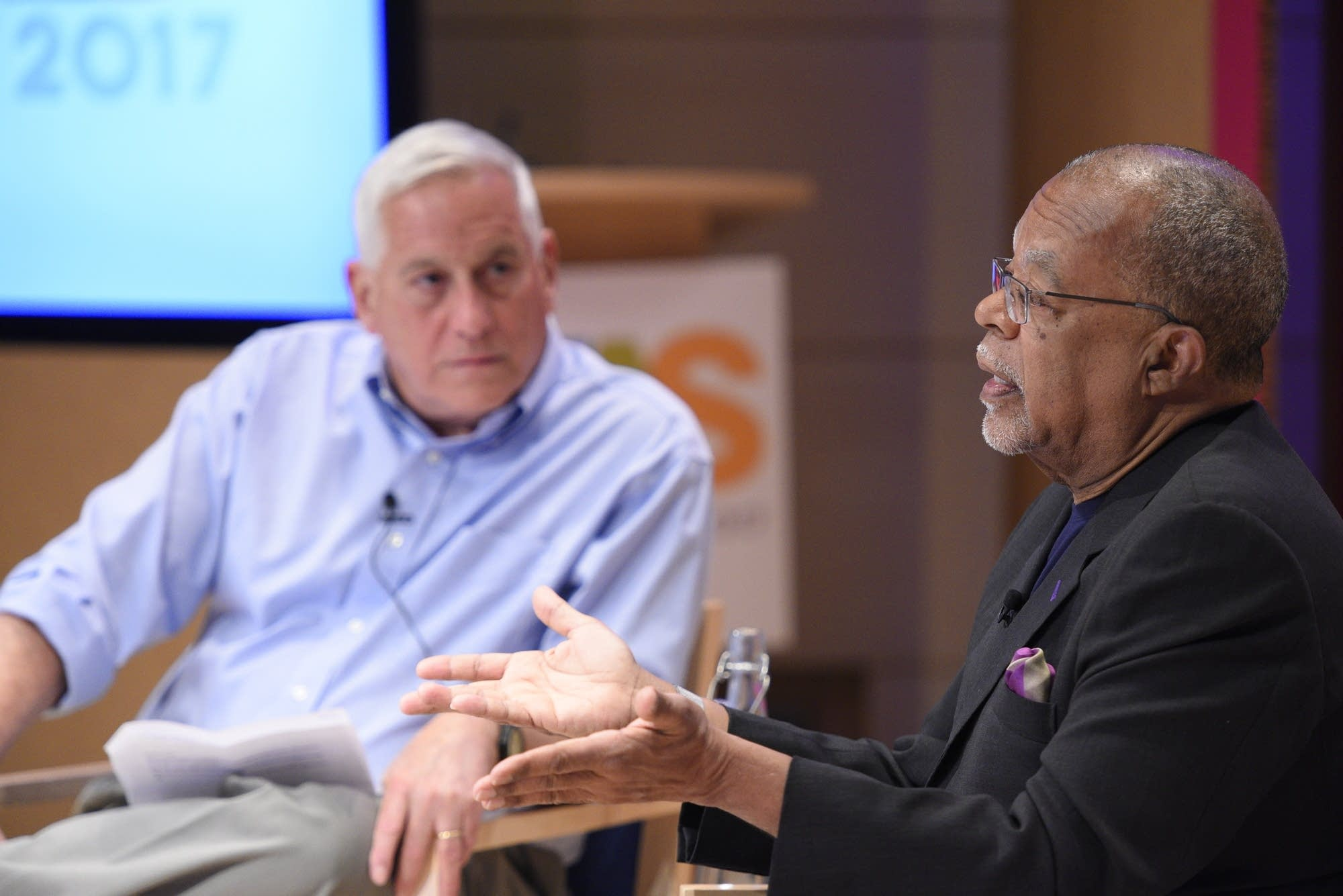 Walter Isaacson and Henry Louis Gates at the Aspen Ideas Festival.