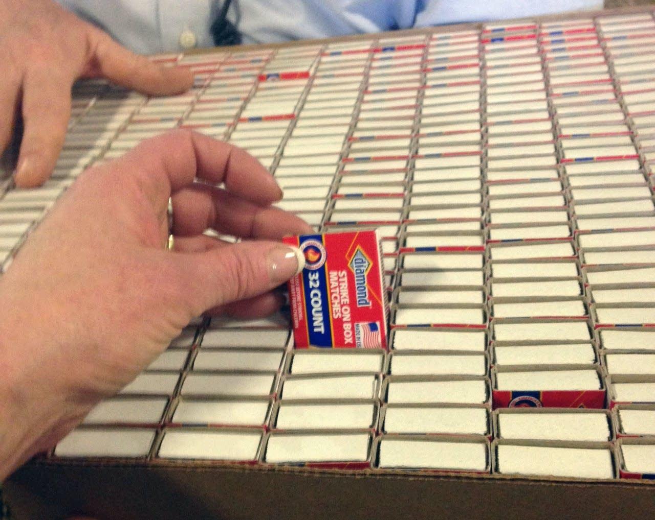 A box full of Diamond matches.