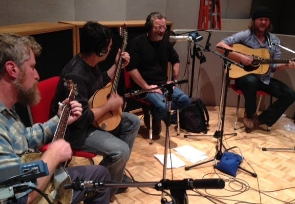 David Francey and band in studio