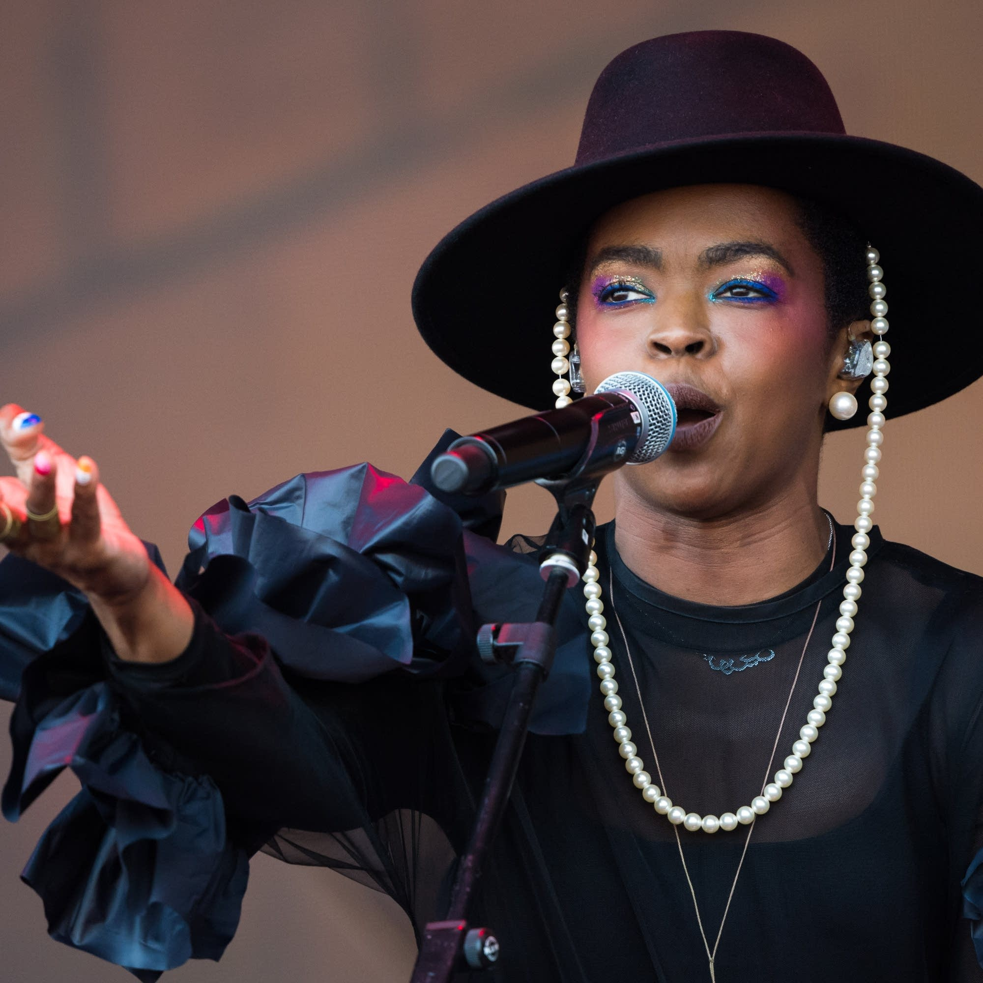 Lauryn Hill performs at Glastonbury 2019