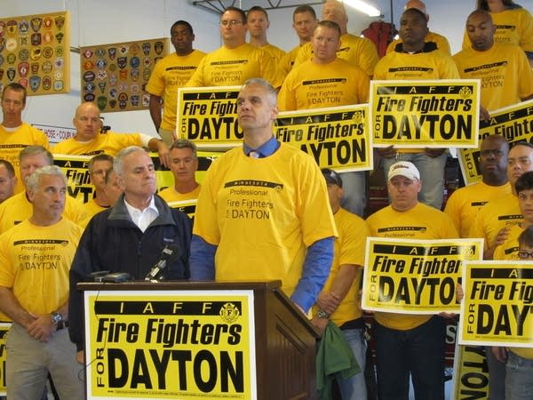 Fire fighters back Dayton