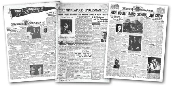 An image of three front page newspapers