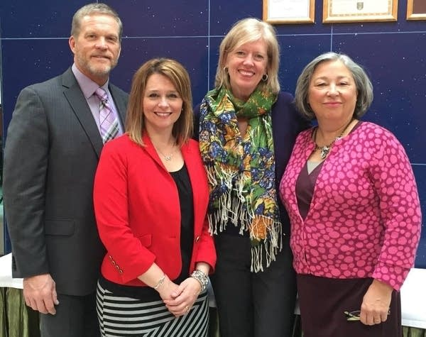 Judge Kathryn Quaintance (far right) on a volunteer trip in 2015.