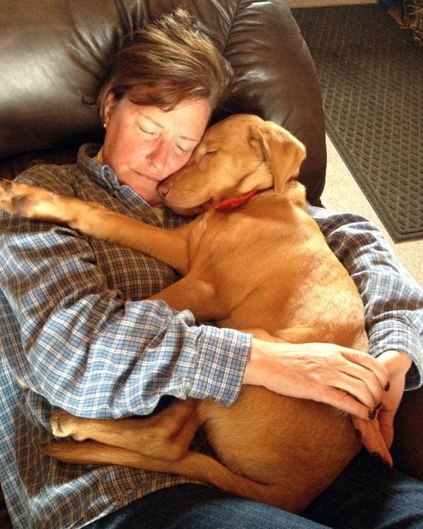 Dawn Stimmler with Captain as a puppy.