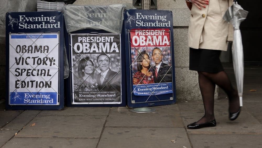 Newspapers in London react to Obama victory
