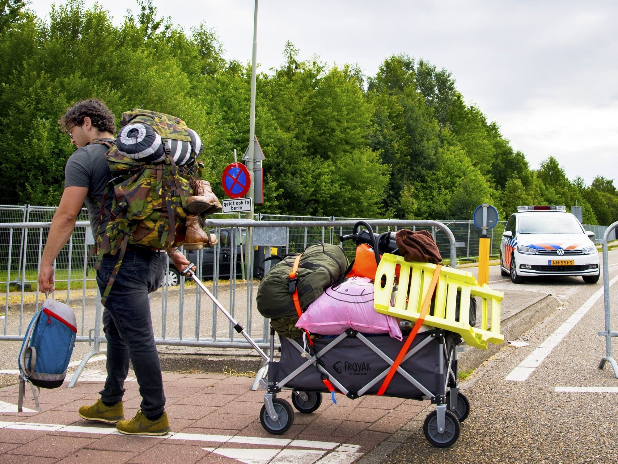 The scene outside Pinkpop festival after a van slammed into pedestrians.