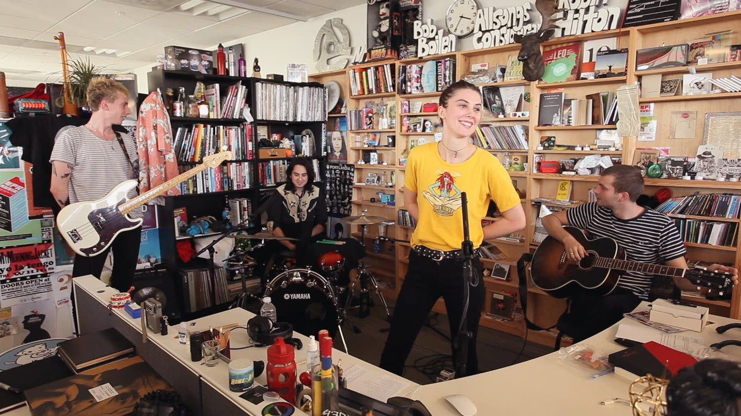 Wolf Alice performing at Tiny Desk