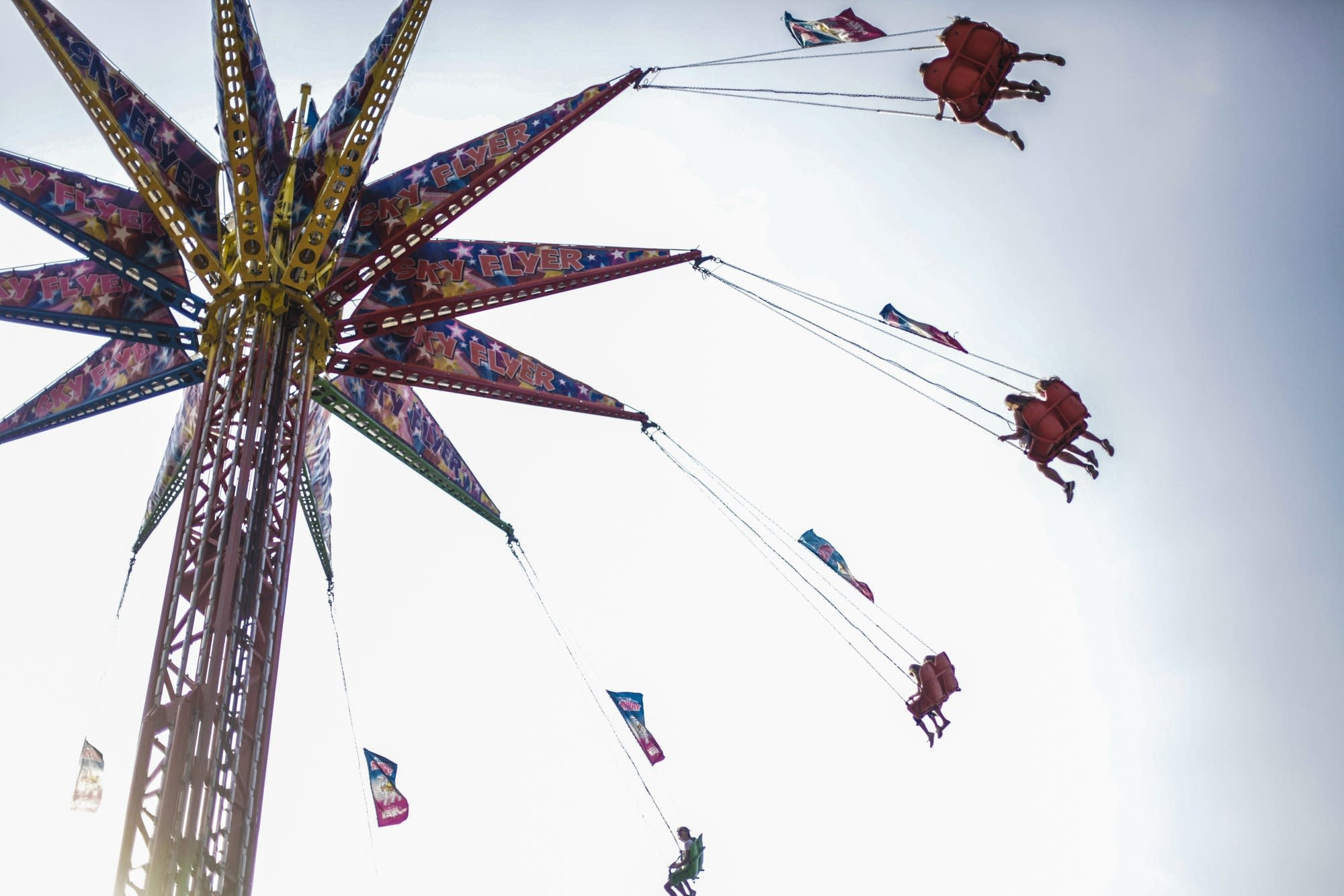 The swings are a classic State Fair attraction.