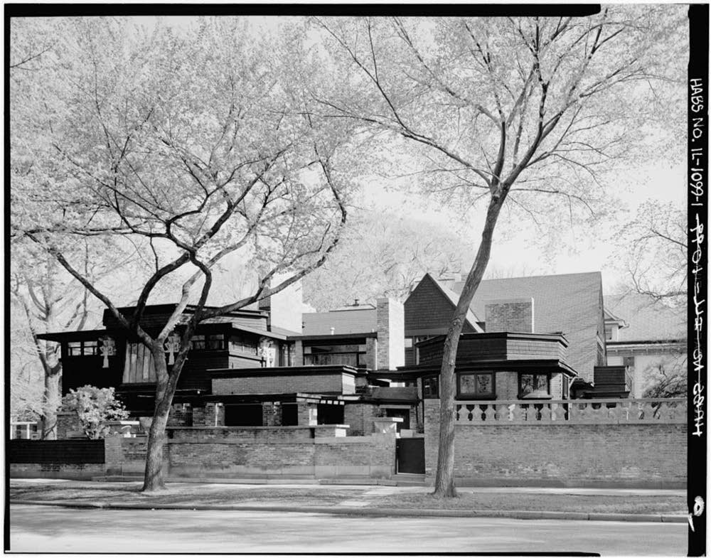 Wright's Oak Park home and studio