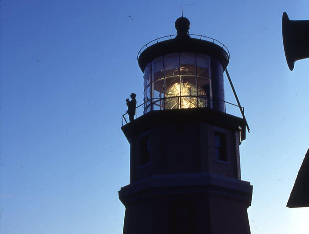 Split Rock Lighthouse at dusk