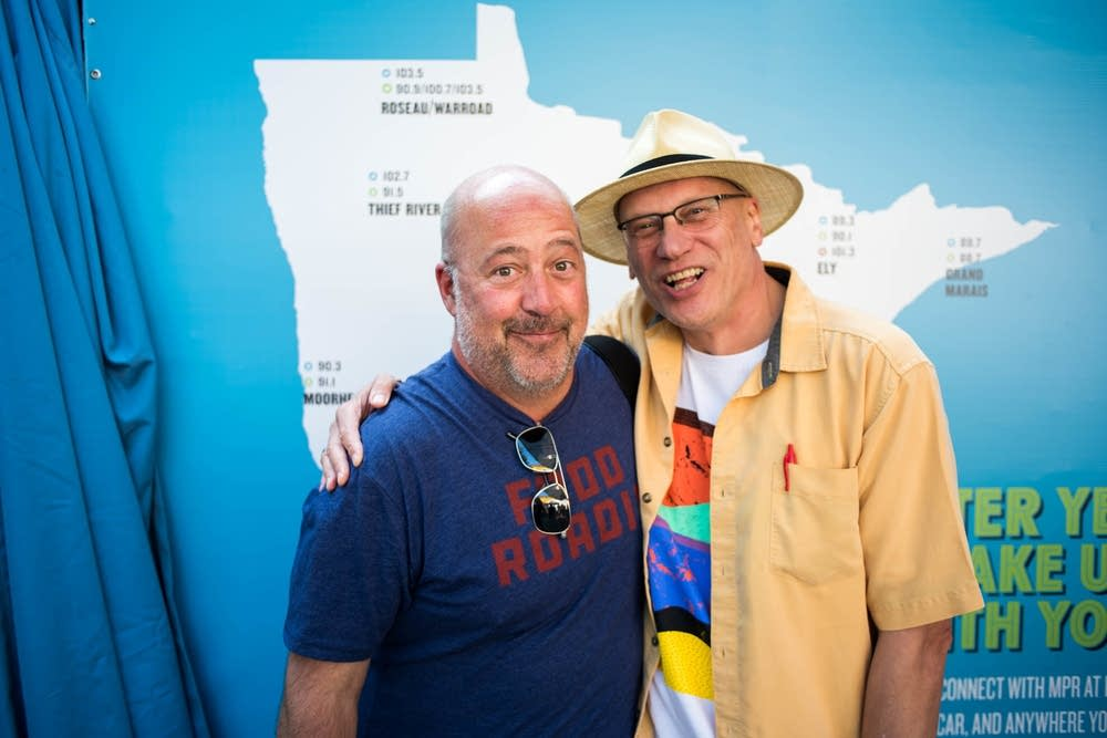 Andrew Zimmern and Mark Wheat