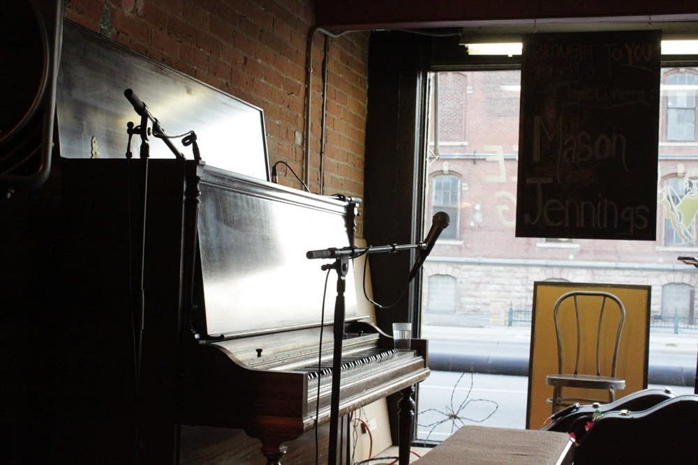 The piano at the Coffee Hag