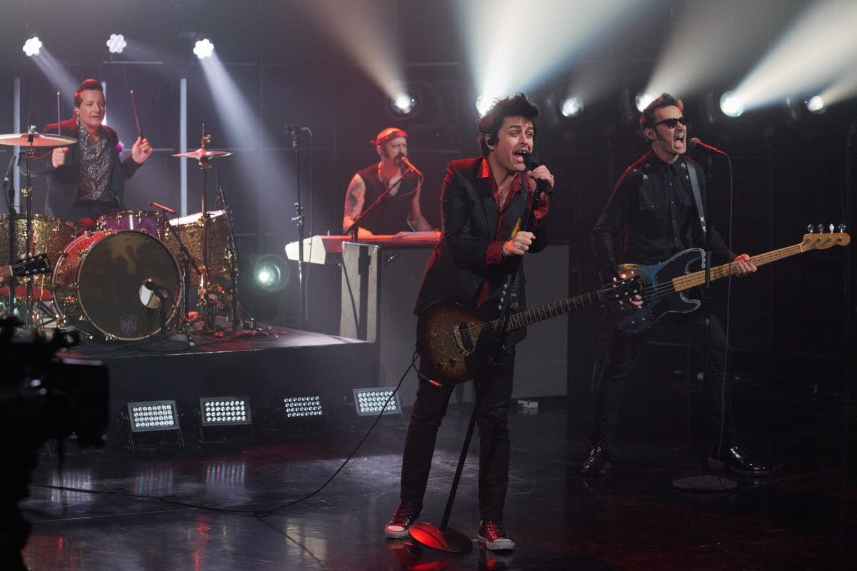 Green Day perform on 'The Late Late Show with James Corden'