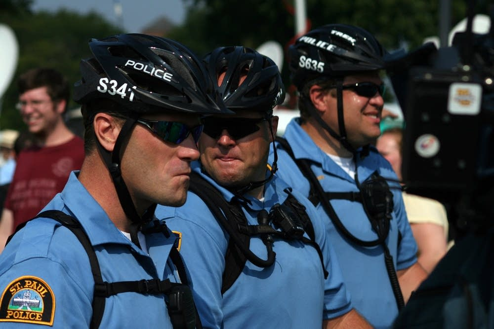 Bicycle police during the RNC