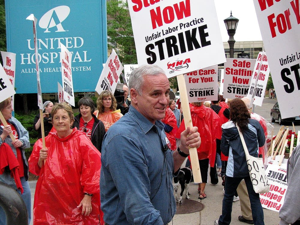 Dayton at nurses strike
