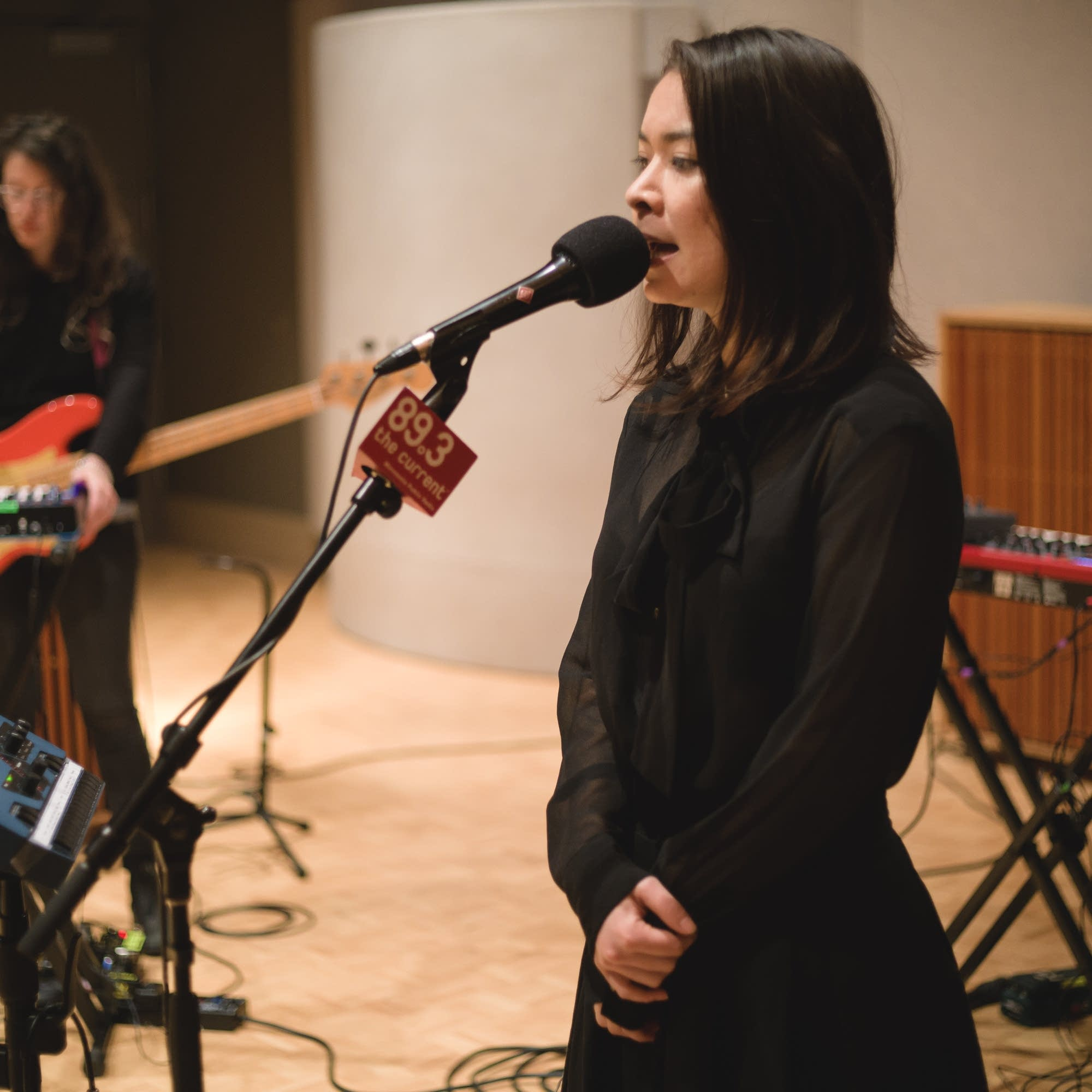 Mitski performs in The Current studio