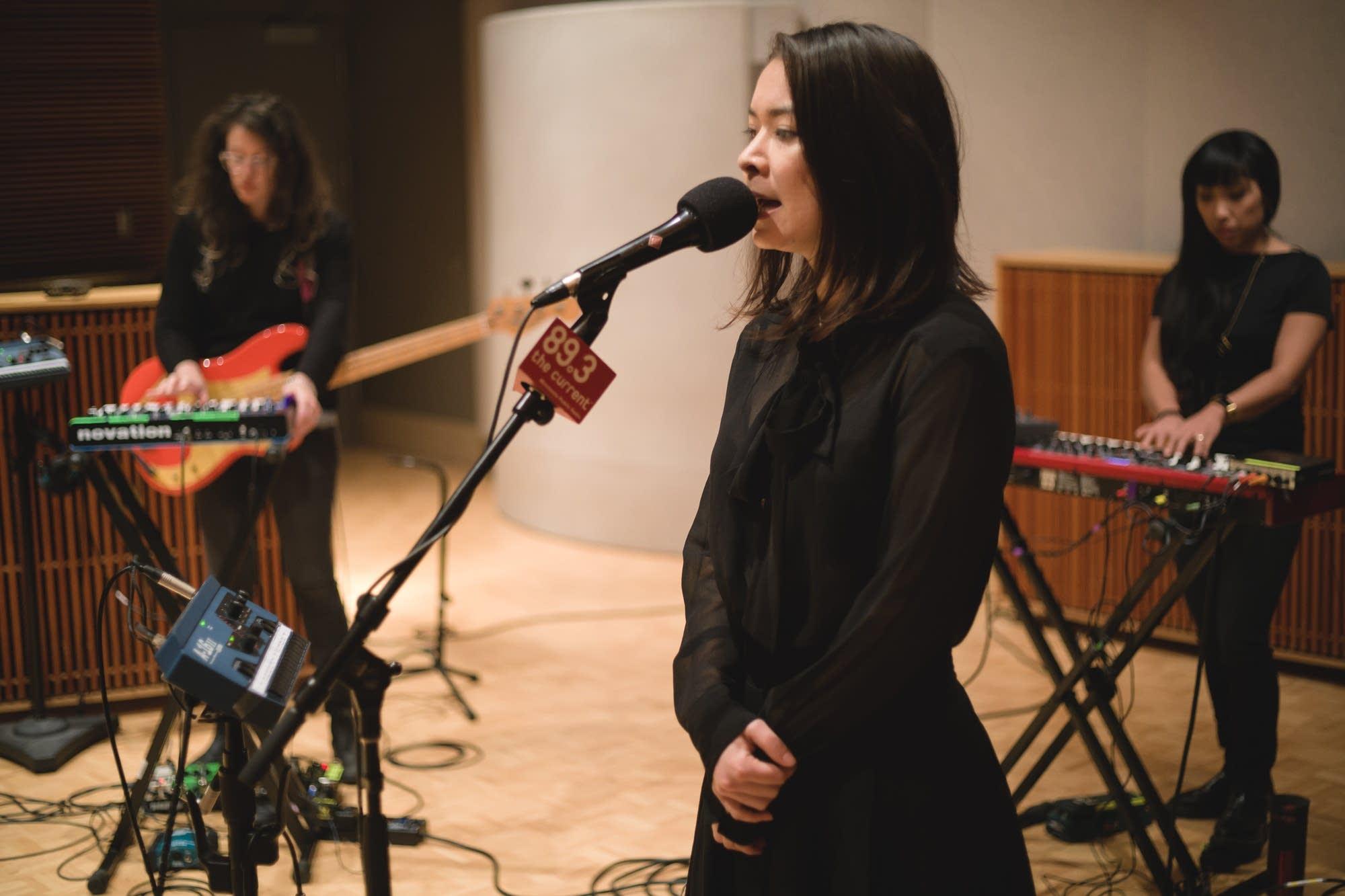 Mitski performs in The Current studio