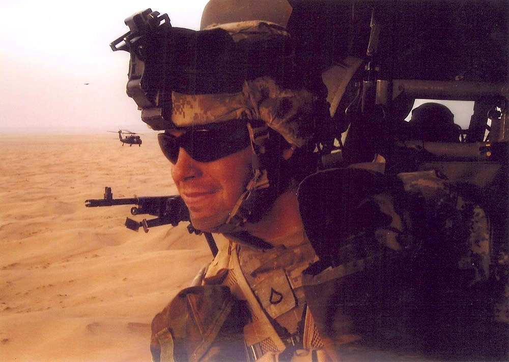 Sgt. Ben Miller during his deployment in Iraq