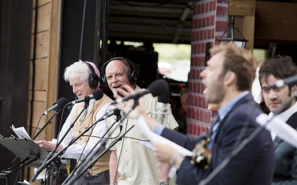 Fred Newman, Tim Russell, Chris Thile and Noam Pikelny.