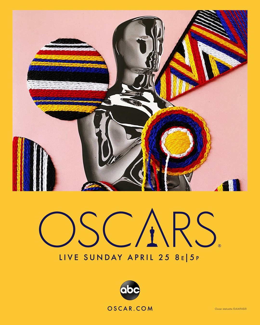Oscars coverage key art from ABC