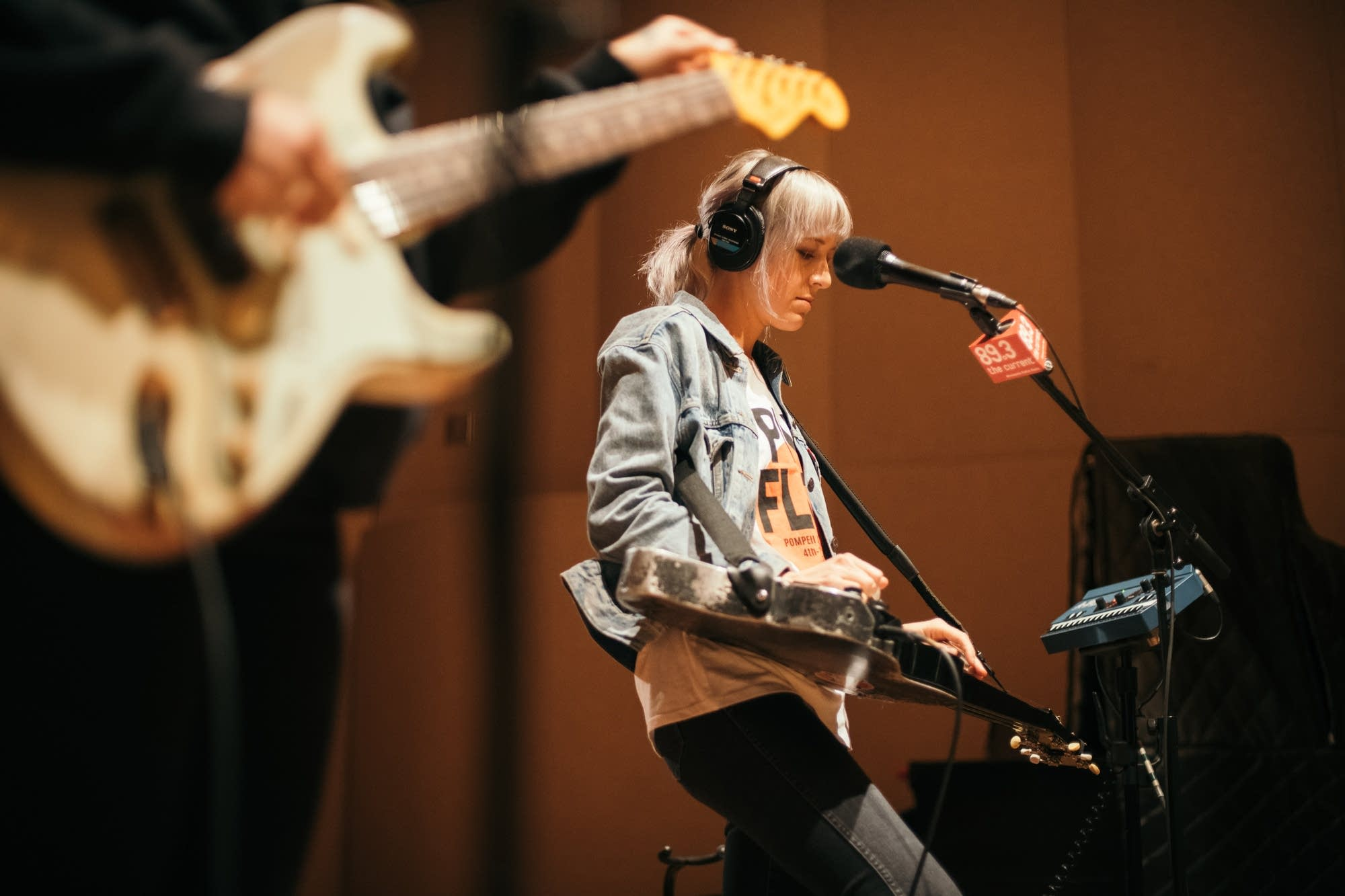 Larkin Poe perform in The Current studio