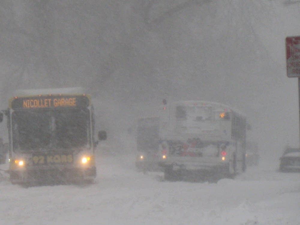 Buses stuck