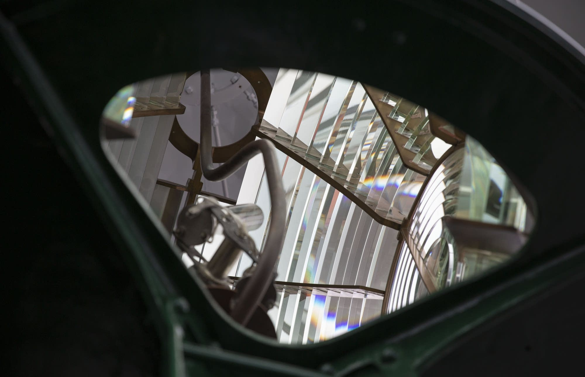 The Fresnel lens was used to create the lighthouse's beacon.