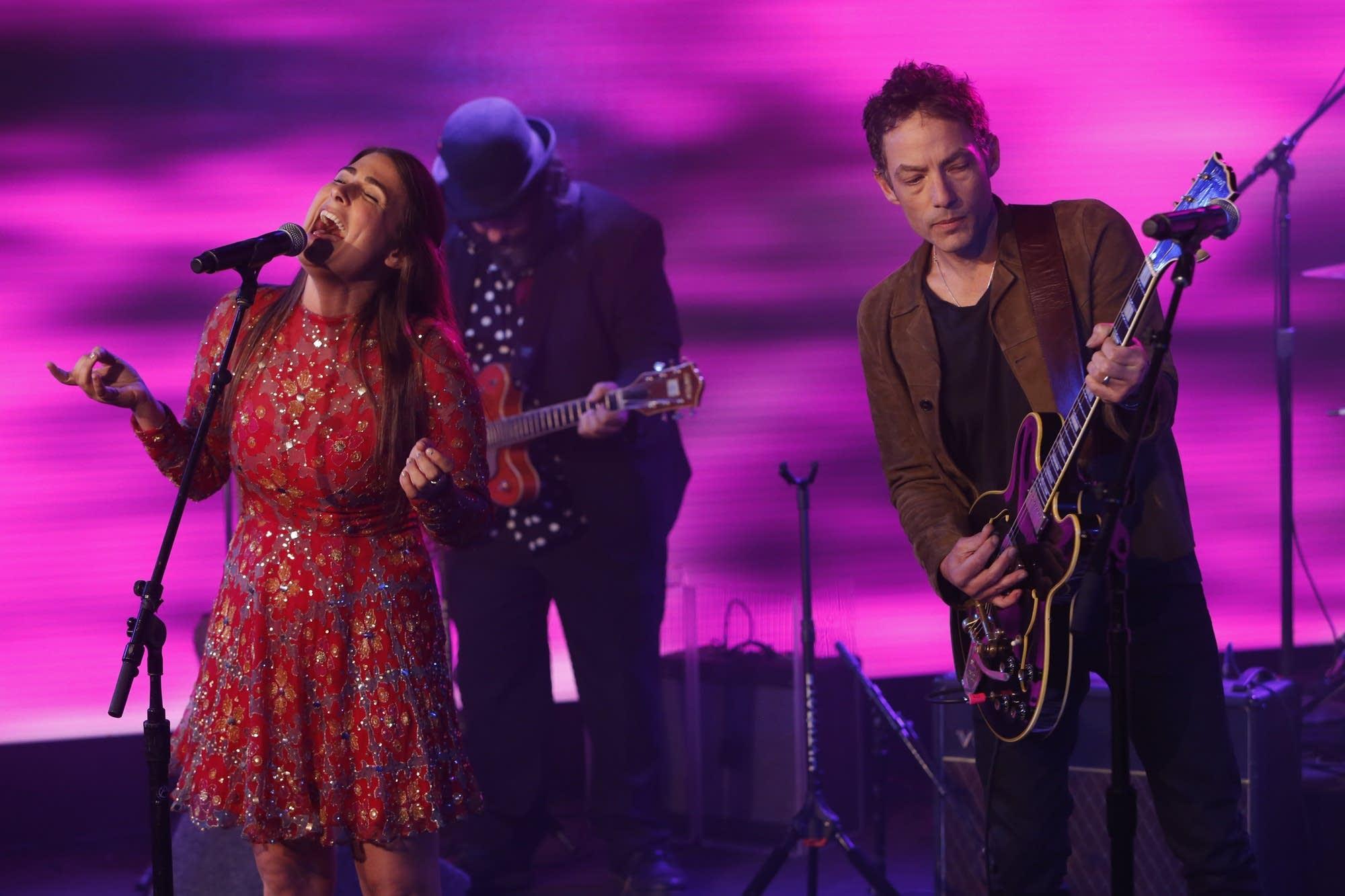 Jade Castrinos and Jakob Dylan on 'Jimmy Kimmel Live!'