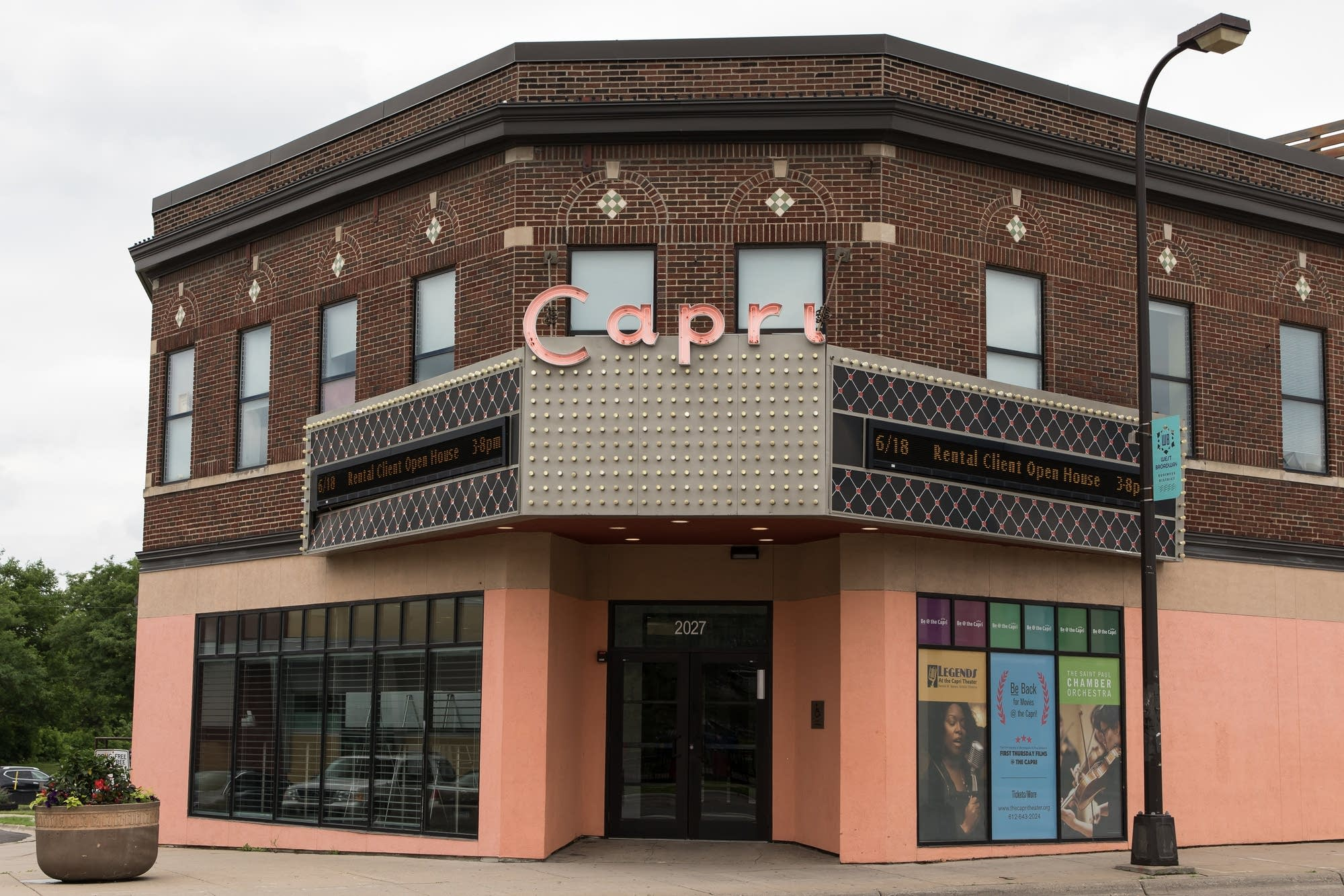 The Capri Theater sits on West Broadway in North Minneapolis.