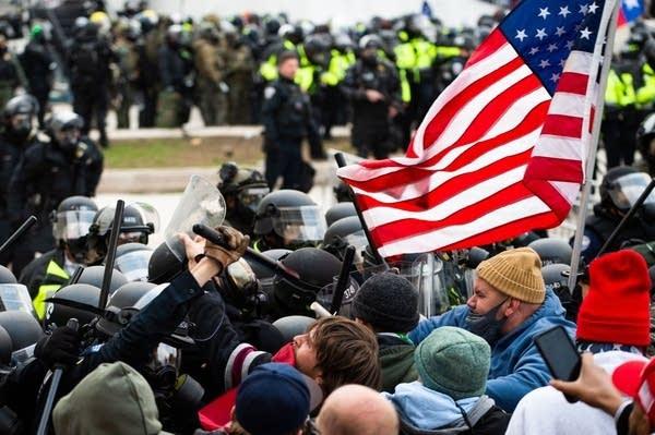A mob storms the U.S. Capitol.