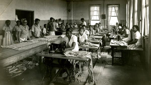 Prisoners sewing. Parchman, Mississippi.
