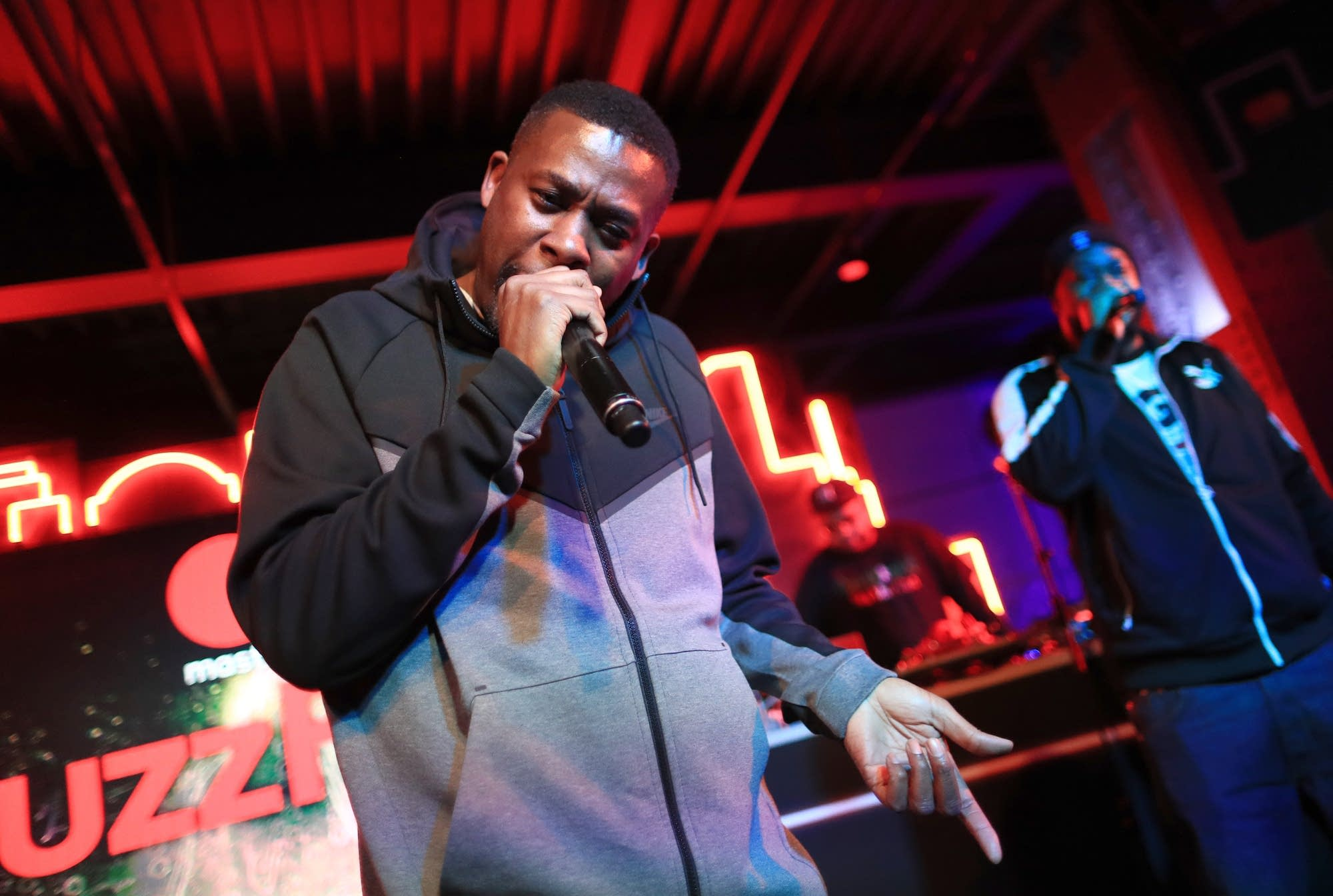 GZA performing onstage in 2018