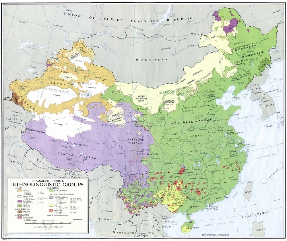 Ethnic-linguistic groups in China