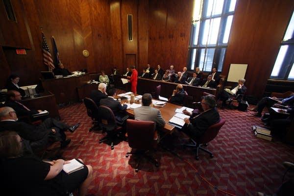 Shutdown court hearing