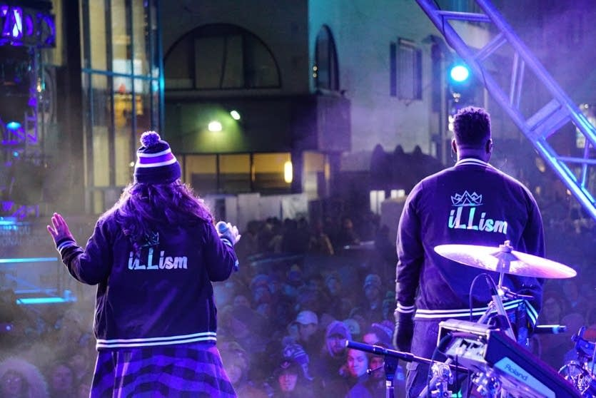 Illism perform during Super Bowl Live