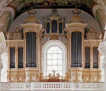1785 Holzhey organ at the Saint Verena Parish Church, Rot-an-der-Rot,...