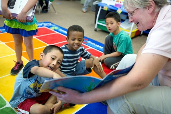 Reading in a pre-K classroom