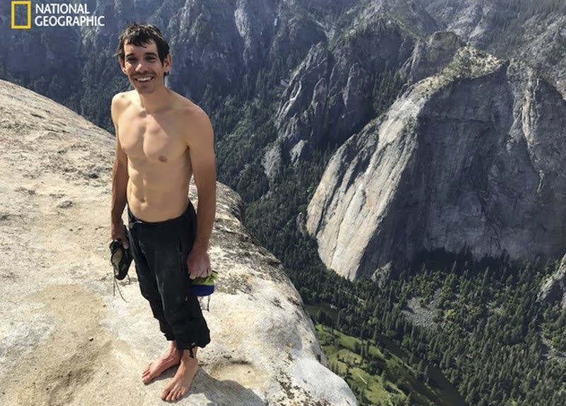 Rock climber Honnold makes historic ropeless ascent of El Capitan