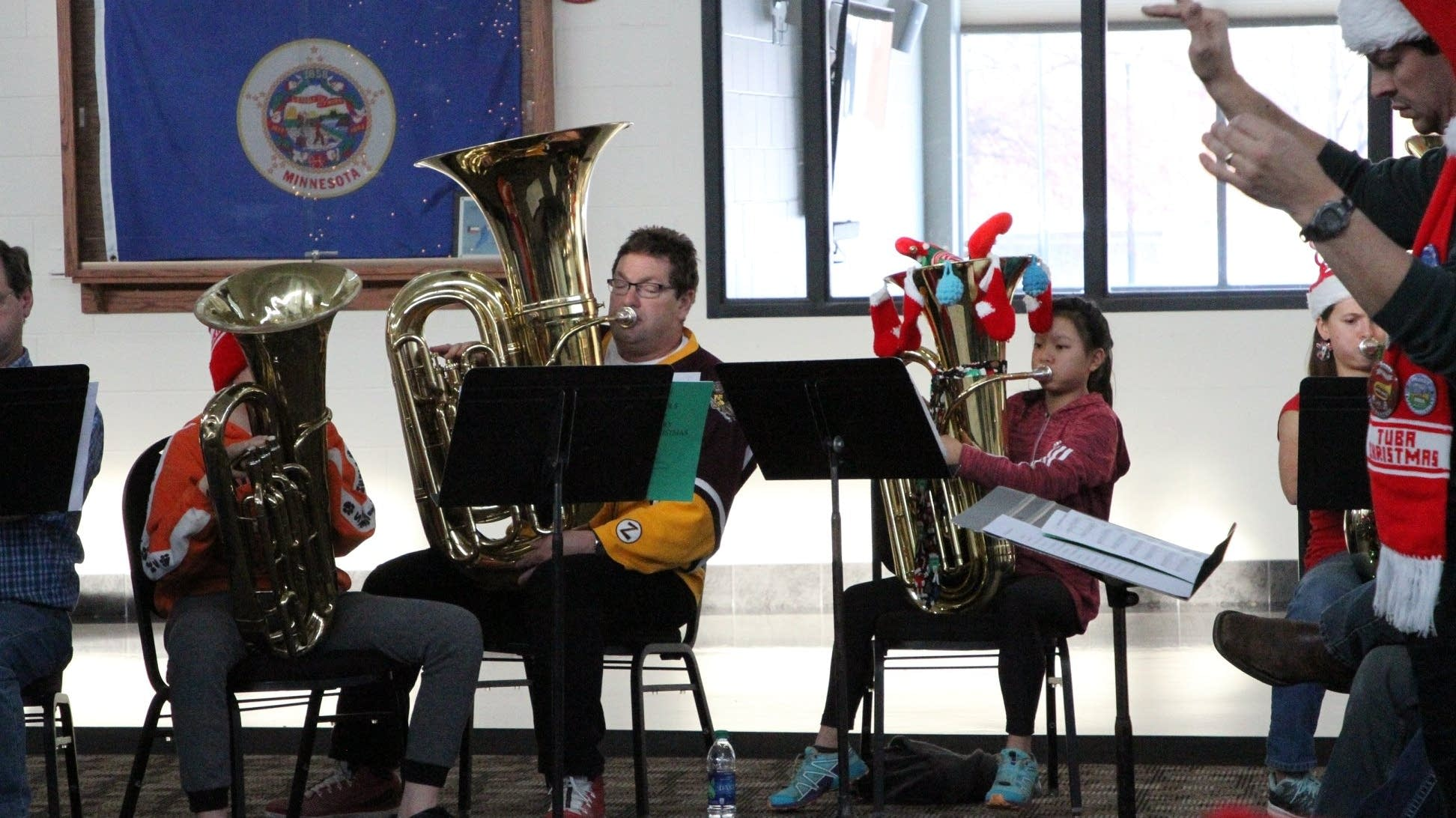 Performers from TubaChristmas