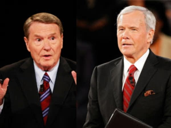 Tom Brokaw and Jim Lehrer