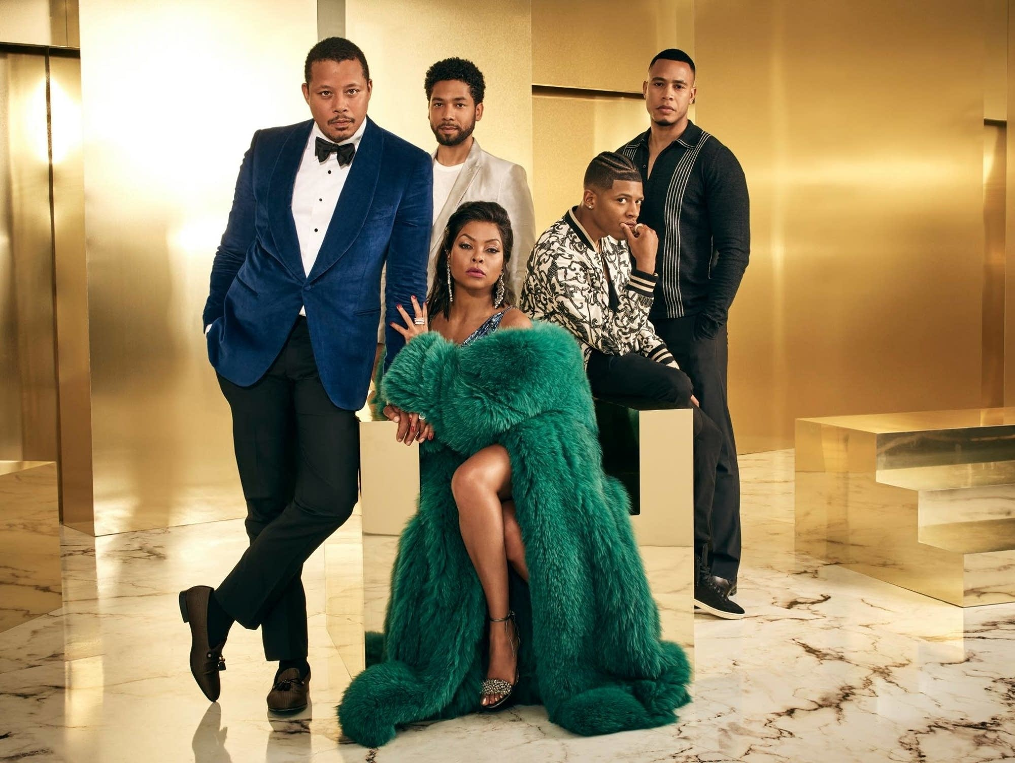 The cast of 'Empire' in a promotional image for season four