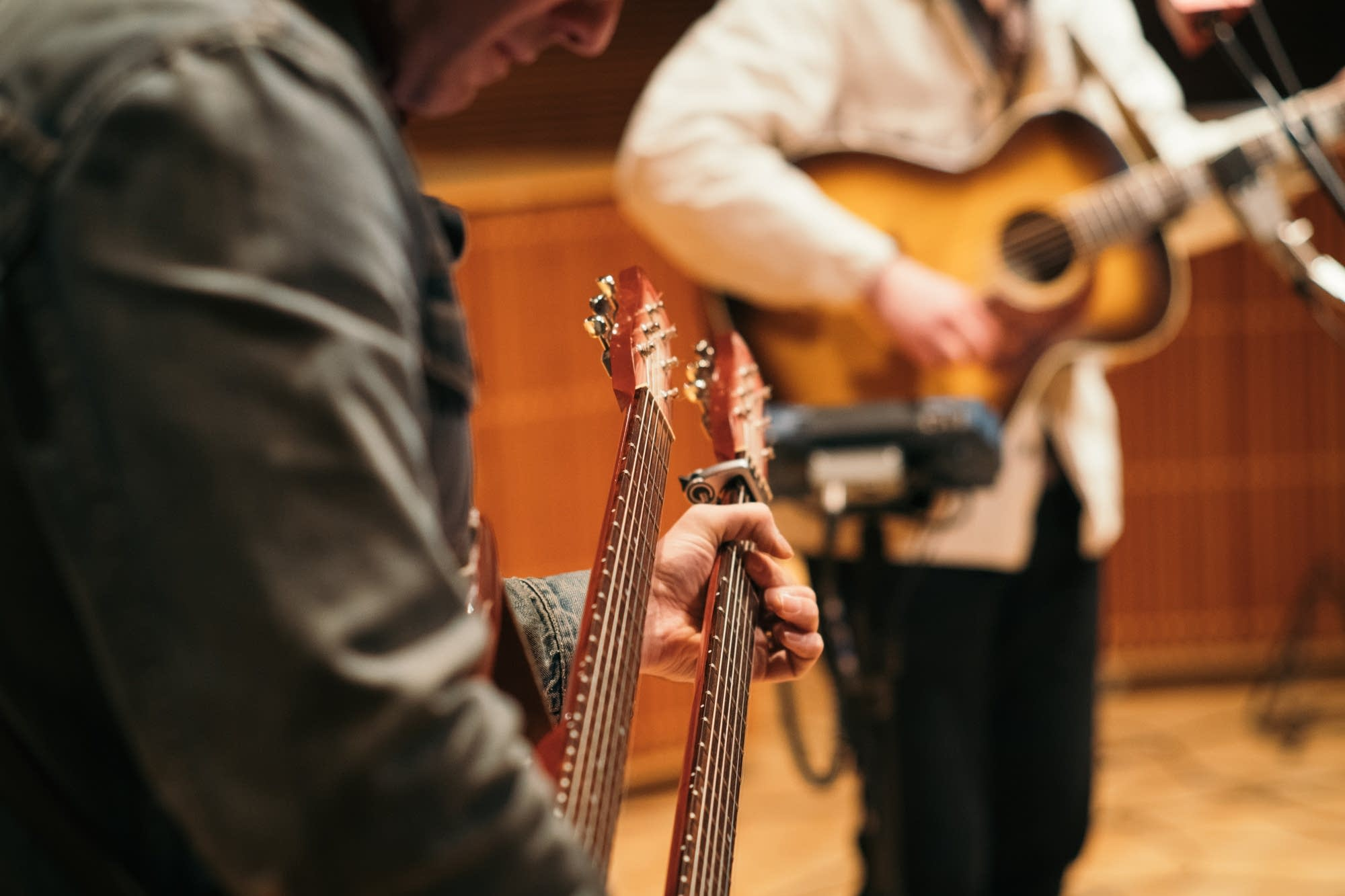 Tyler Burkum's double-neck guitar