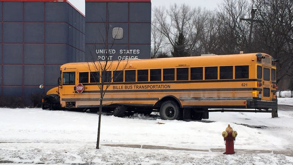 kids on board as school bus hits parked cars in st paul minnesota public radio news. Black Bedroom Furniture Sets. Home Design Ideas
