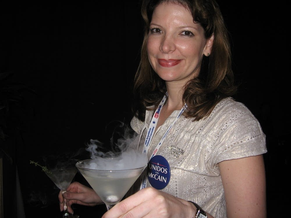 Laura French attends a party after the RNC